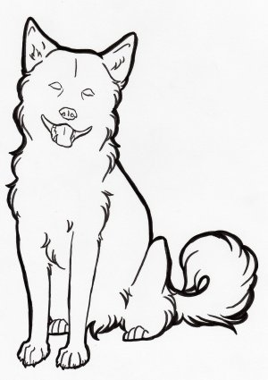 dog drawing line drawings sitting simple clipart cartoon down dogs coloring easy library deviantart pages puppy cliparts animals clip retriever