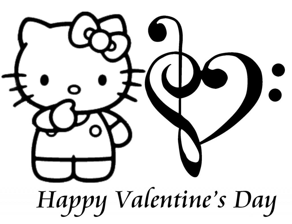 Valentines Day Clip Art Black And White