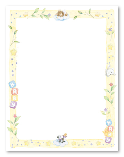 Babyshower Borders : babyshower, borders, Shower, Borders, Free,, Download, Clipart, Library