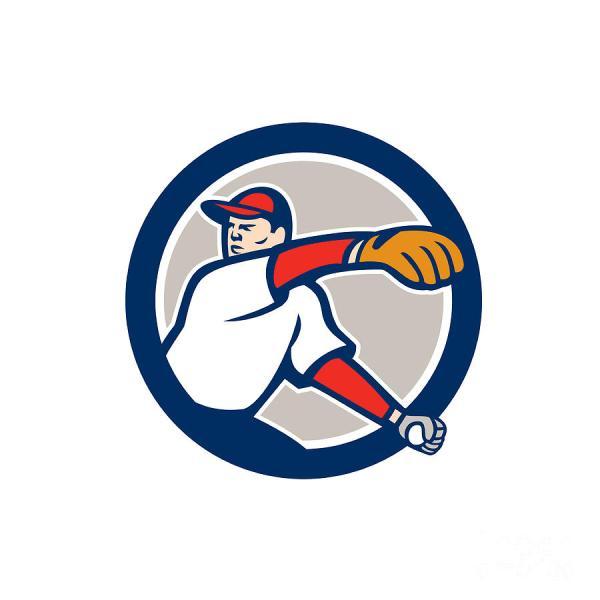 Cartoon Baseball Pitcher Clip Art