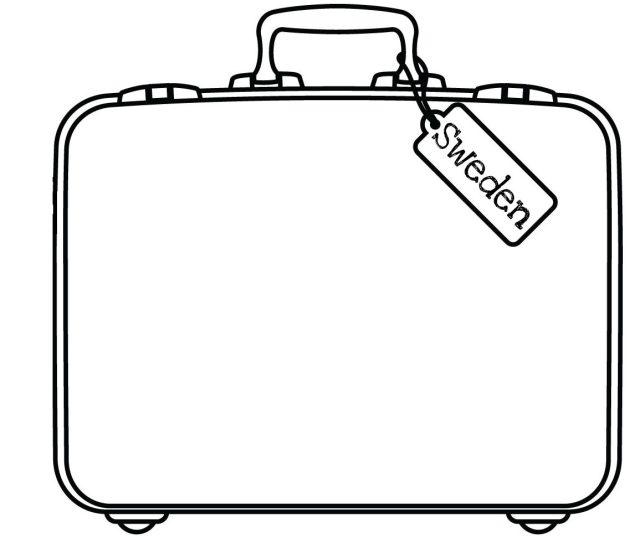 Free Suitcase Coloring Page, Download Free Suitcase Coloring Page