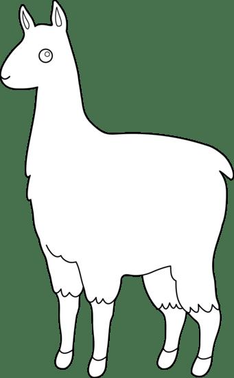 Free Llama Outline, Download Free Clip Art, Free Clip Art