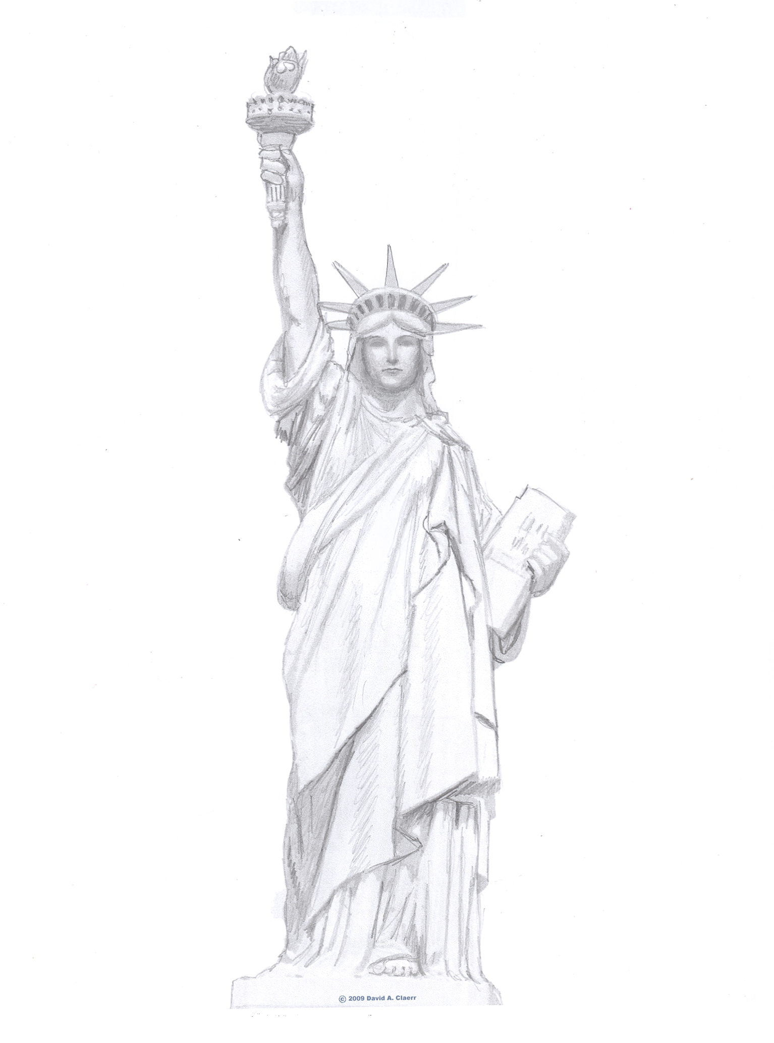 How To Draw The Statue Of Liberty Ehow Uk
