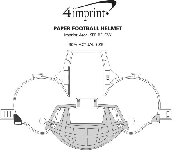 Paper Football Helmet (Item No. 113610) from only 47