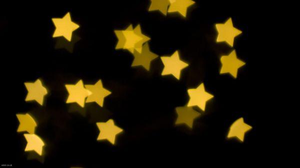 Yellow Stars Desktop Wallpaper