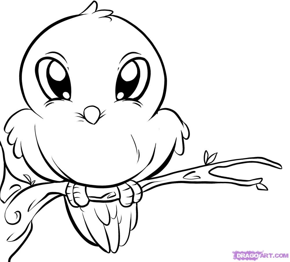 Cute Animal Coloring Pages Drawing Kids Clip Art Library