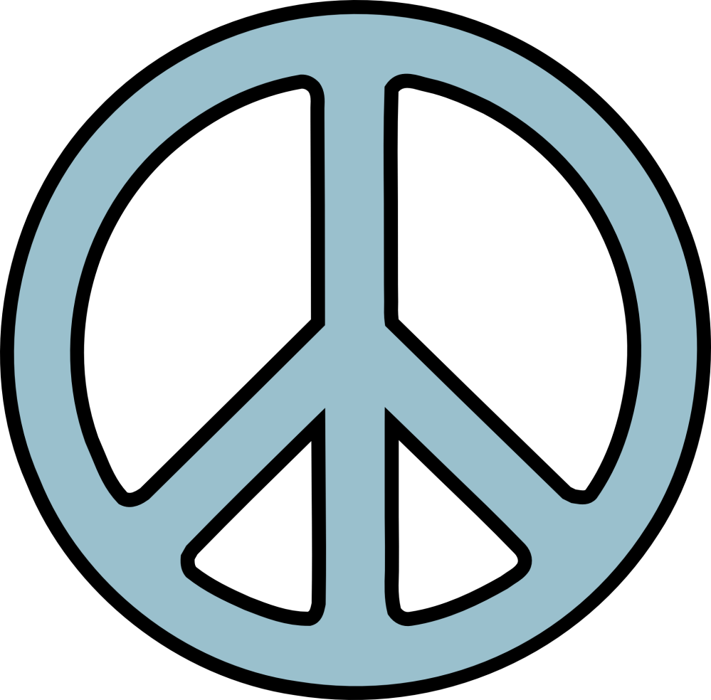 medium resolution of peace sign clip art black and white clipart library free clipart
