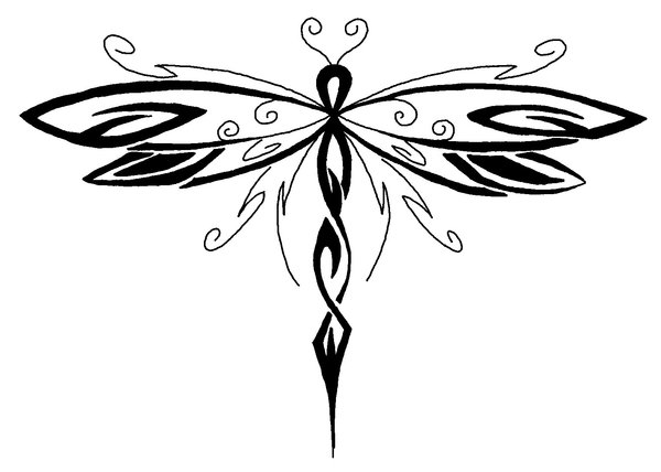 free dragon fly drawings