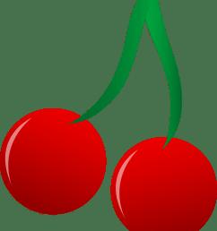 bright red cherries vector art free clip art [ 2443 x 2875 Pixel ]