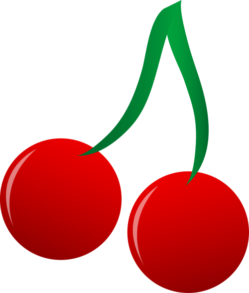 small resolution of bright red cherries vector art free clip art
