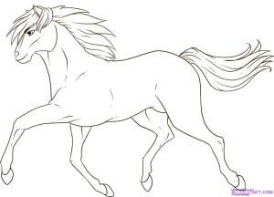 horse draw step easy drawing running drawings animals horses farm sketch dragoart clipart superman steps animal clip