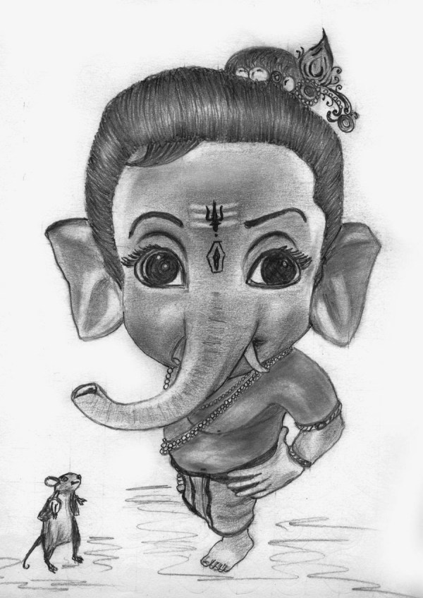 Free Lord Ganesh Sketch Clip Art