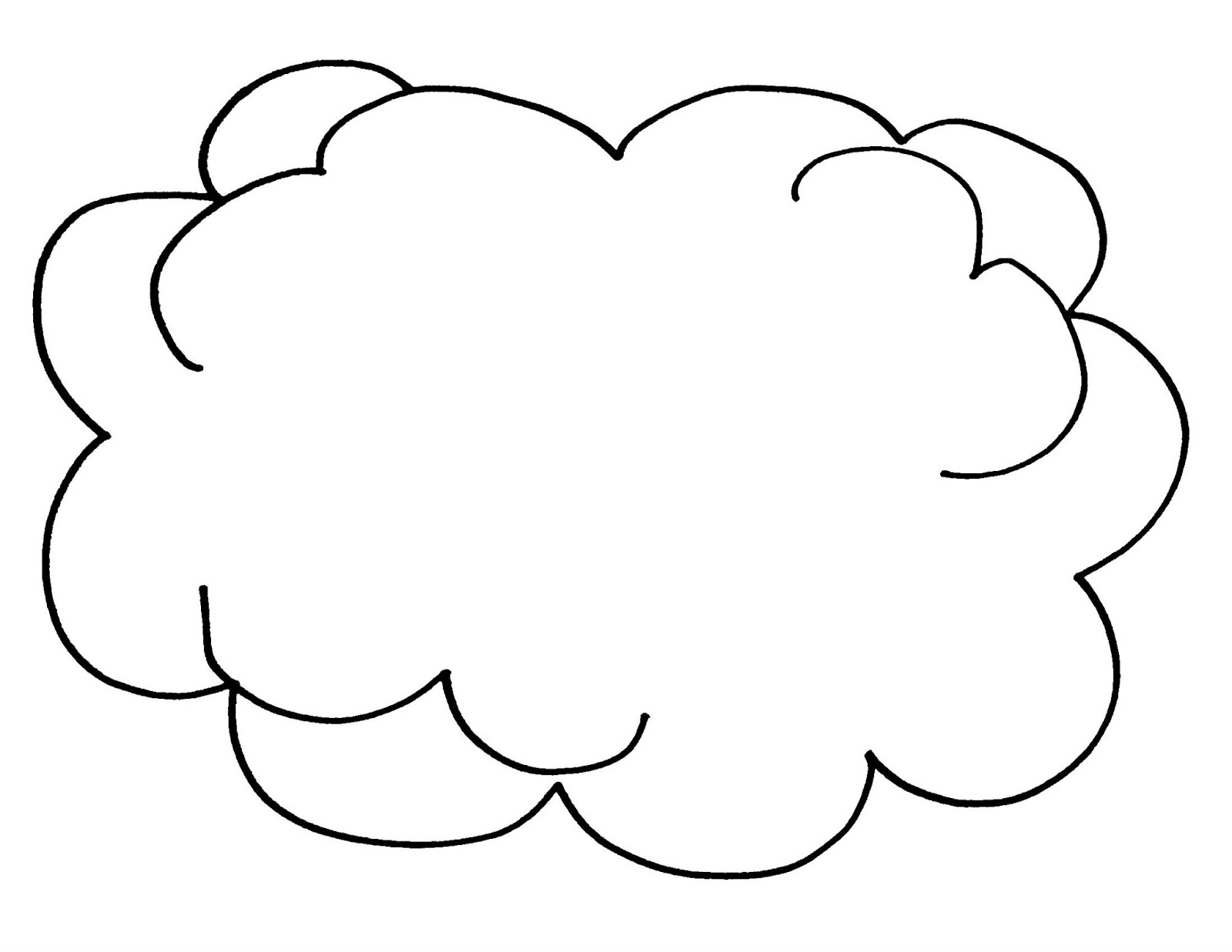 Cloud Coloring Pages To Print