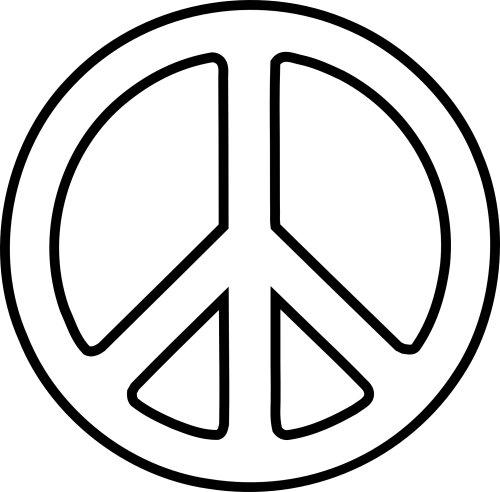 small resolution of peace sign clipart black and white clipart library free clipart
