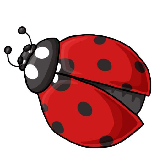 free flying ladybug clipart