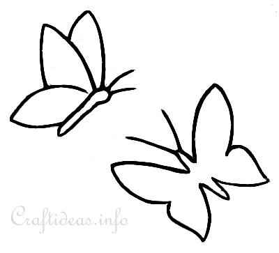 Free Butterfly Template, Download Free Clip Art, Free Clip