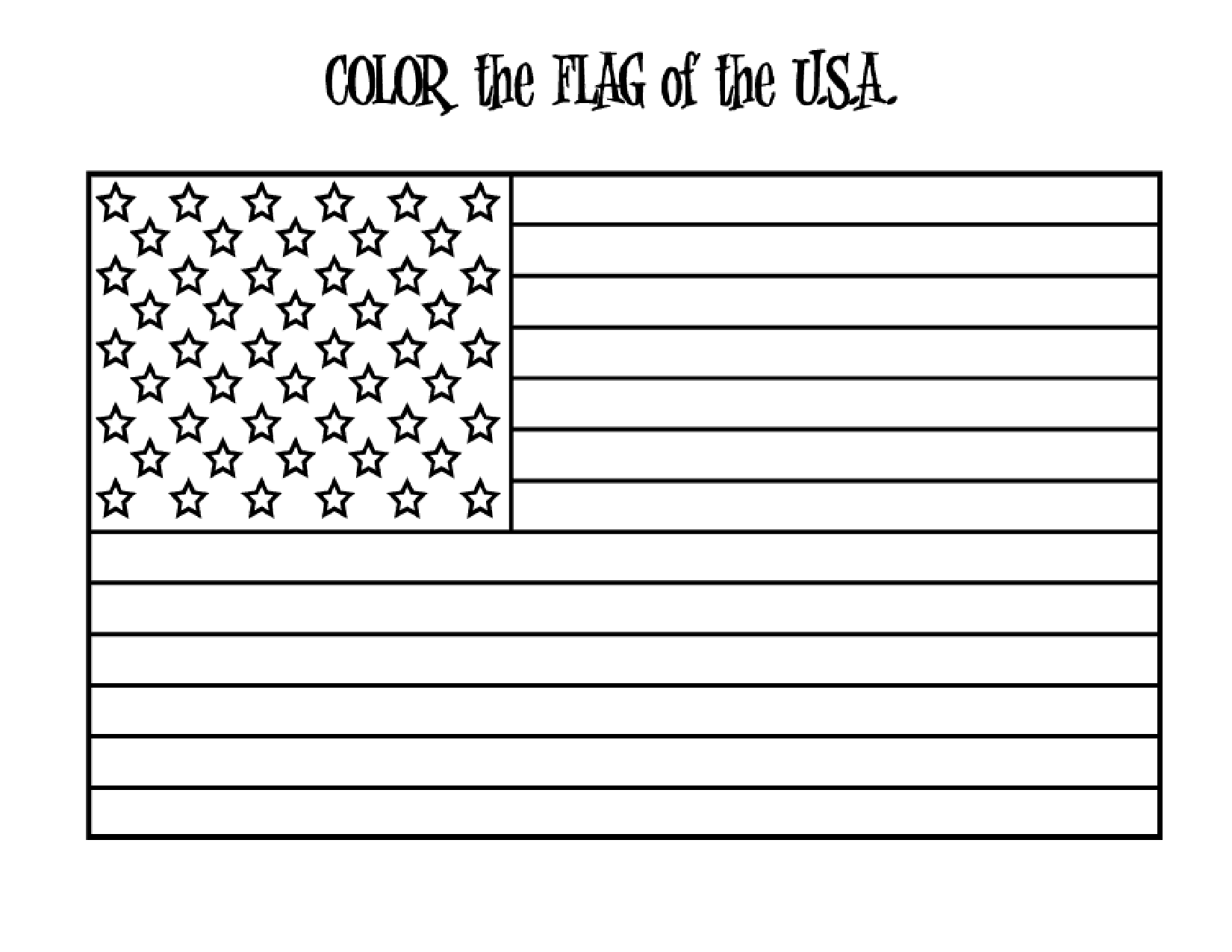 American Flag To Trace
