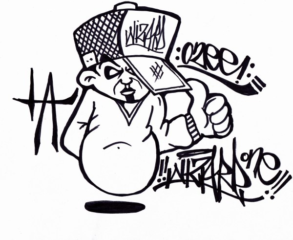 How to draw a graffiti character 2013 YouTube