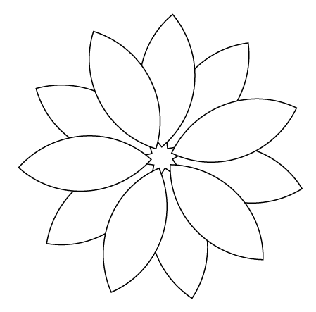 Free Flower Pettles Outlines, Download Free Clip Art, Free