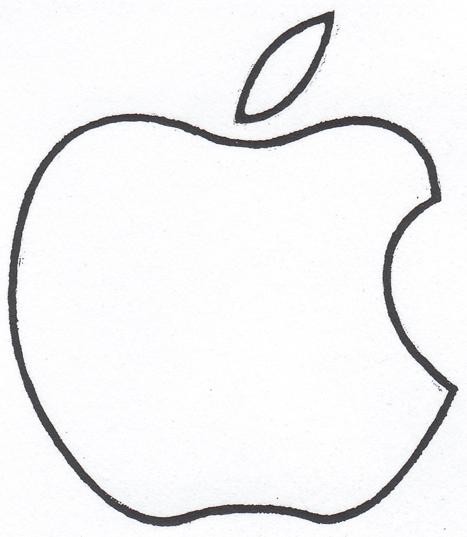 Pix For Outline Of Apple Logo