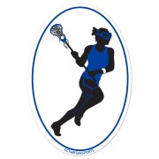 pix girls lacrosse player silhouette