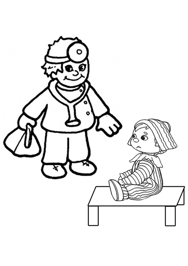 Doctor Tools Coloring Page