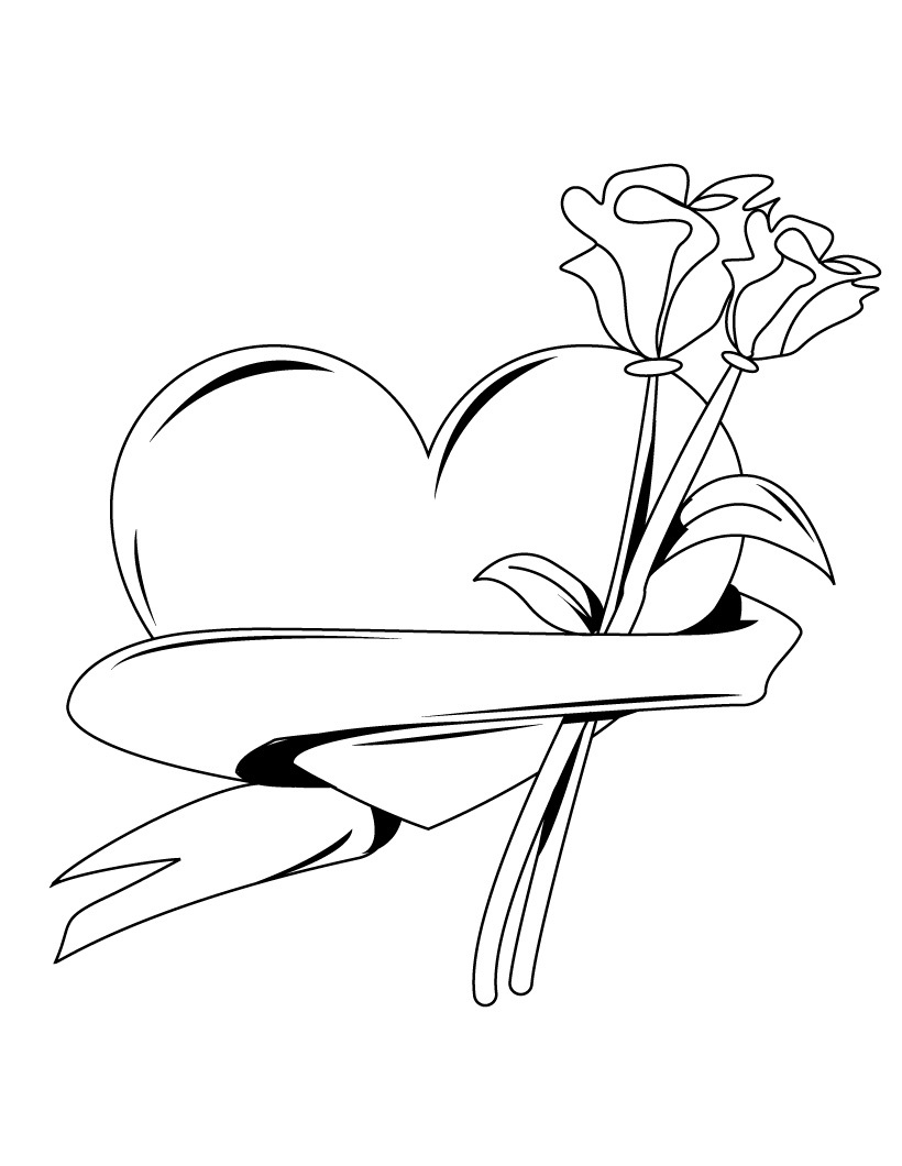 Free Roses Drawings With Hearts Download Free Clip Art Free Clip Art On Clipart Library