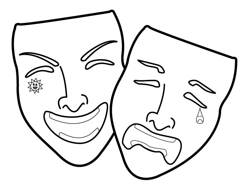 Free Happy And Sad Masks, Download Free Clip Art, Free