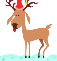 free to use public domain reindeer clip art [ 999 x 1293 Pixel ]