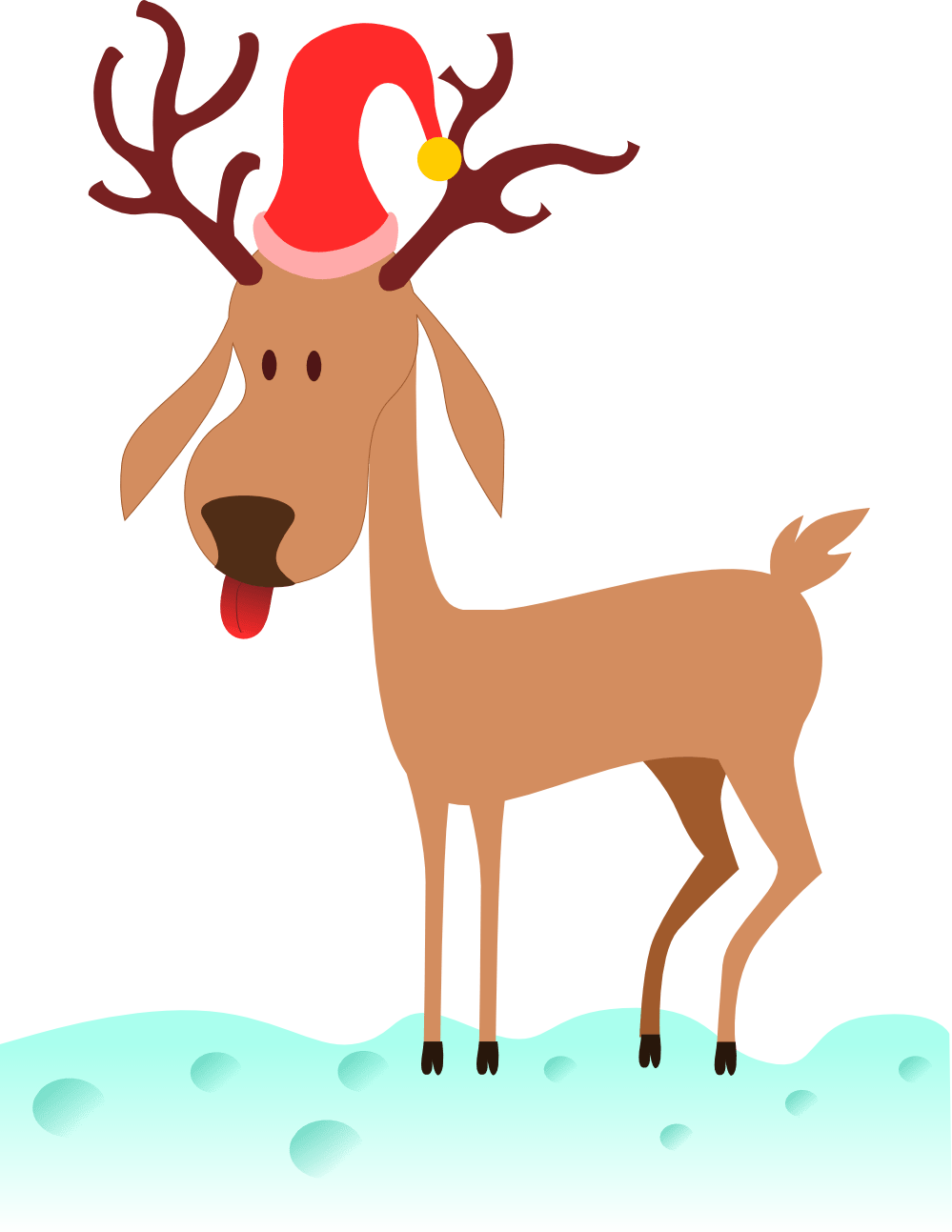 hight resolution of free to use public domain reindeer clip art