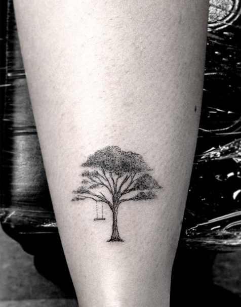 Dark Tree Tattoo : tattoo, Black, Tattoo,, Download, Clipart, Library
