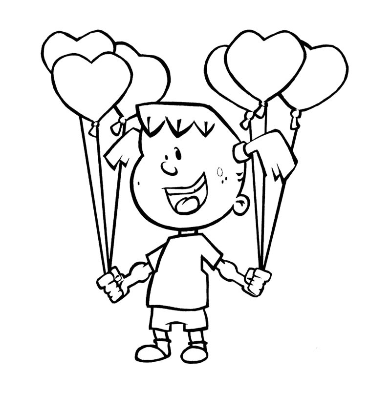 Thanksgiving Coloring Pages : Children Happy Thanksgiving