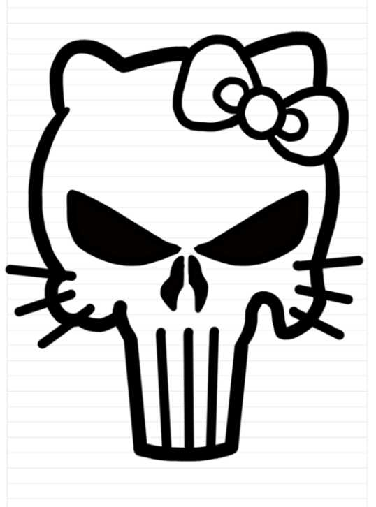 punisher hello kitty decal - Clip Art Library