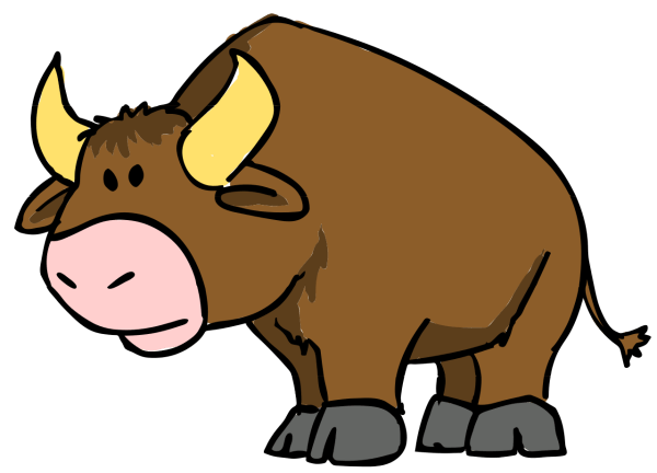 File Bull Cartoon 04.svg - Wikimedia Commons