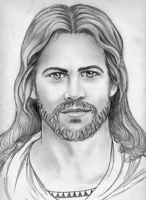 Jesus Face Outline : jesus, outline, Jesus, Drawing,, Download, Clipart, Library