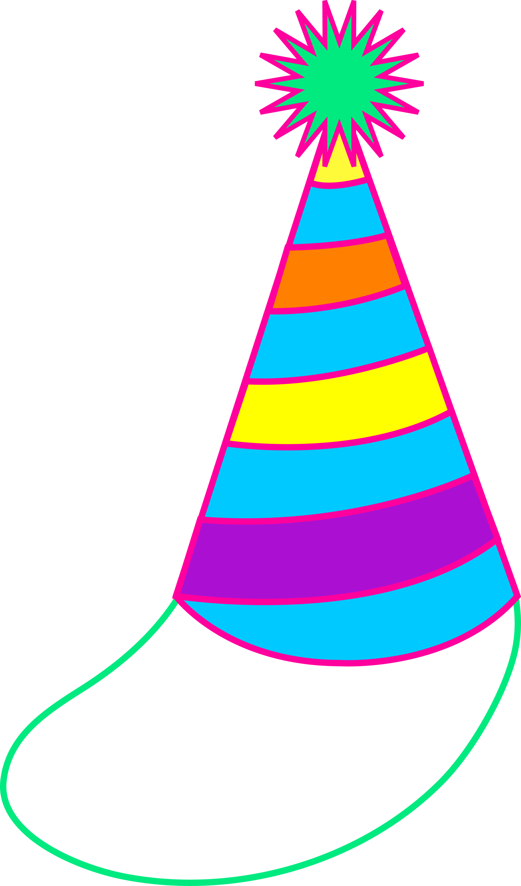 hight resolution of colorful party hat free clip art