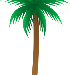 simple palm tree vector free clip art [ 3182 x 5819 Pixel ]