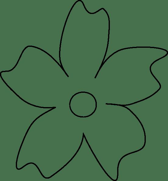 Free Flower Petal Stencil, Download Free Clip Art, Free