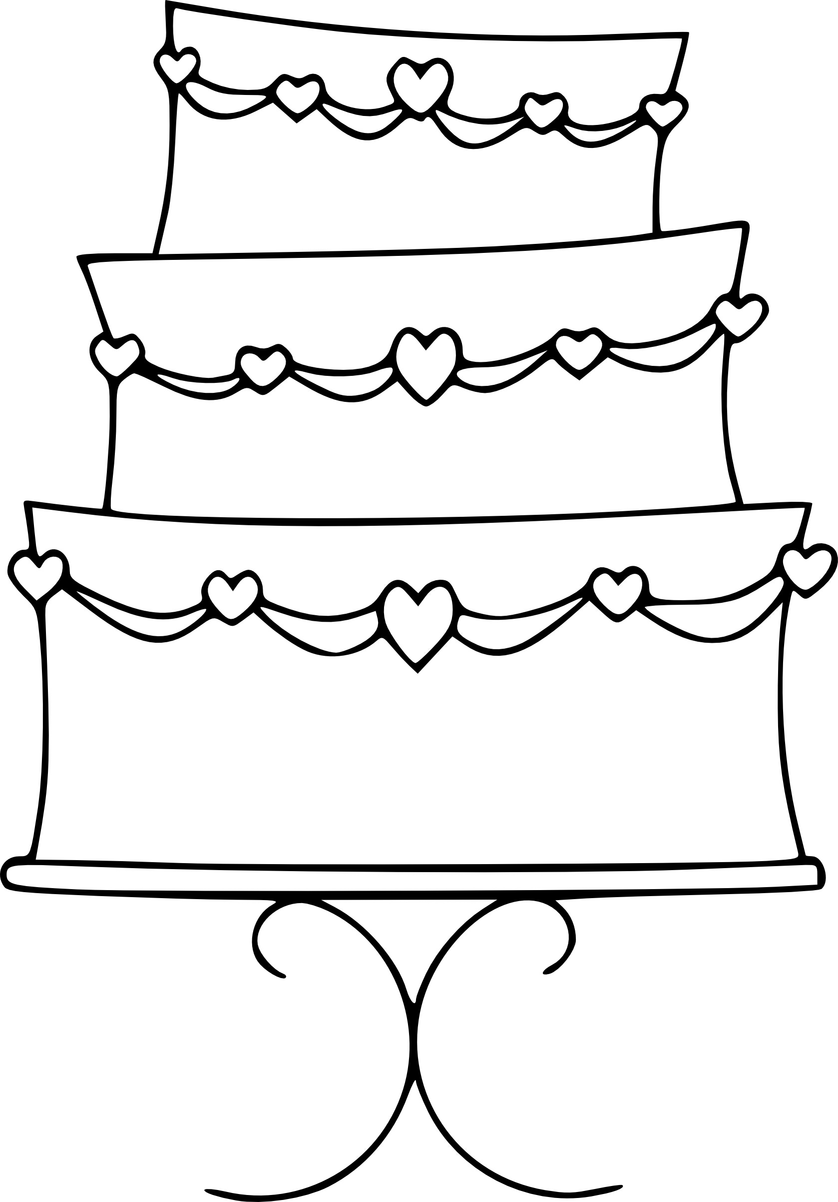 Free Birthday Cake Outline, Download Free Clip Art, Free