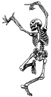 dancing skeleton clipart