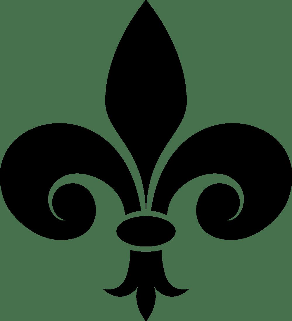 medium resolution of fleur de lis vector art clipart library