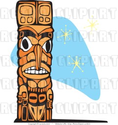 retro royalty free totem pole vector clipart by xunantunich 823 [ 1024 x 1044 Pixel ]