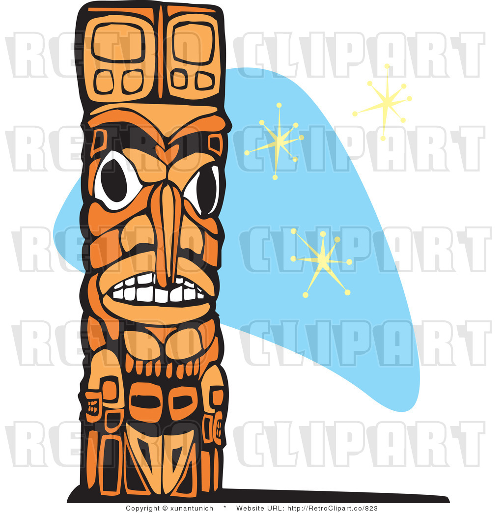 hight resolution of retro royalty free totem pole vector clipart by xunantunich 823