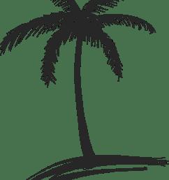 palm trees drawings [ 1371 x 1772 Pixel ]