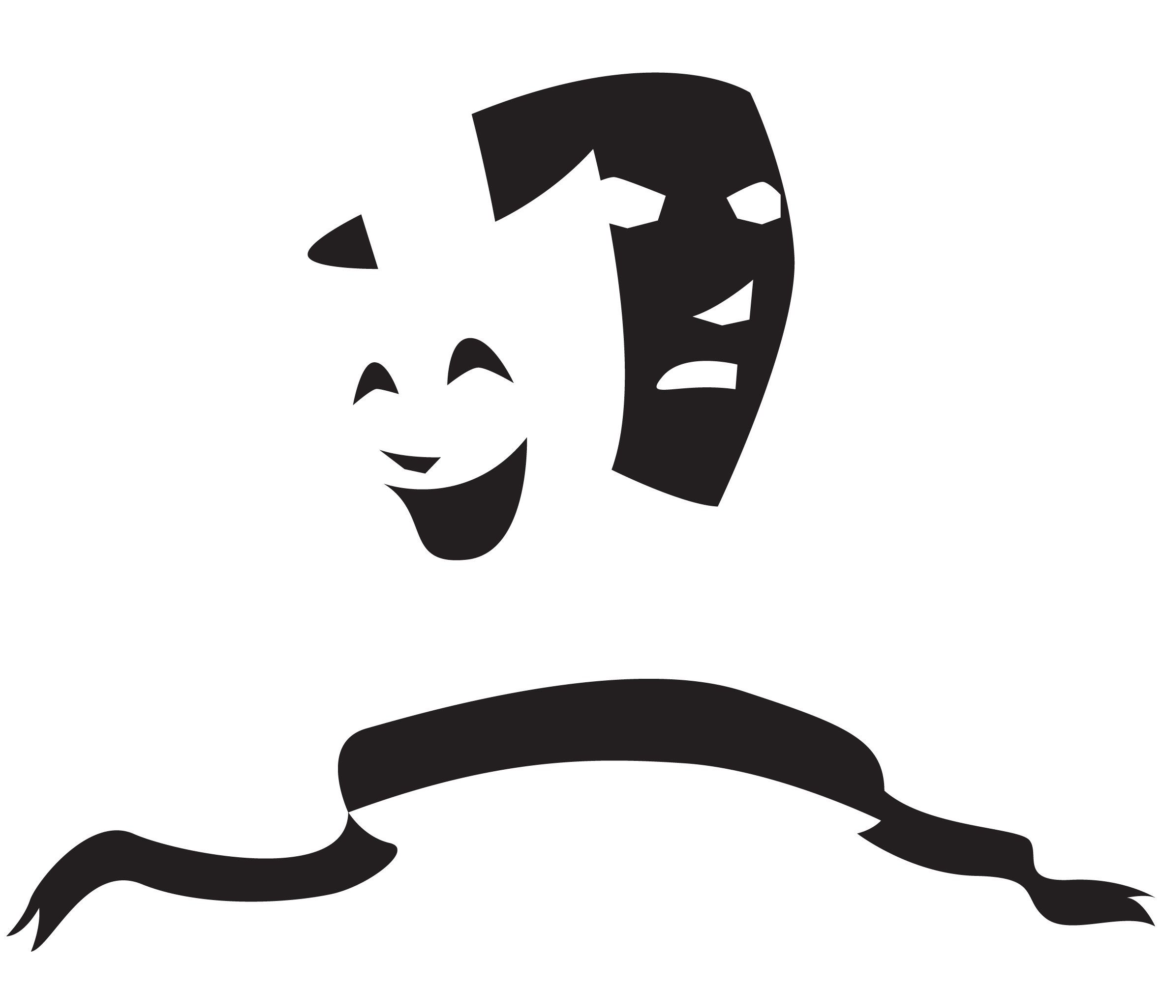 Free How To Draw Drama Masks, Download Free Clip Art, Free