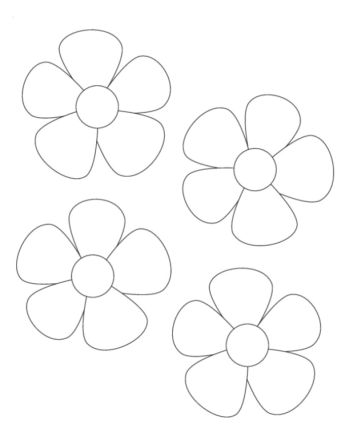 Free Flower Template To Colour Download Free Clip Art Free Clip Art On Clipart Library