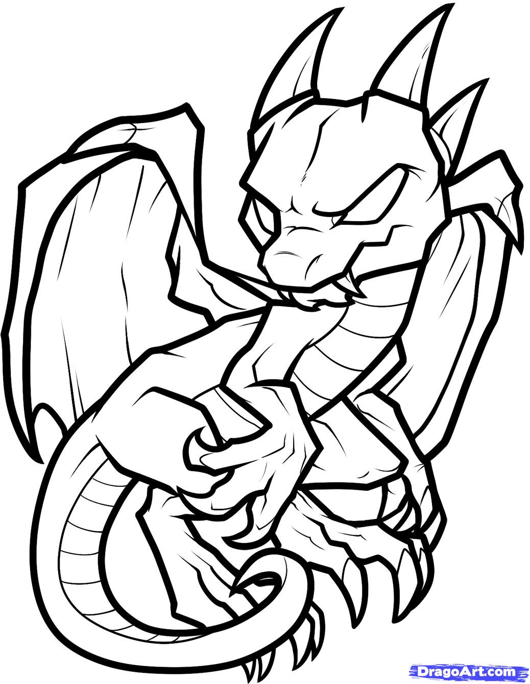 Easy Baby Dragon Drawings For Kids : dragon, drawings, DRAGON, DRAWINGS,, Download, Clipart, Library
