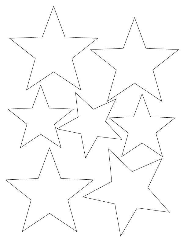 Free Stars Template, Download Free Clip Art, Free Clip Art