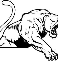 panther mascot clip art use to [ 2387 x 2010 Pixel ]