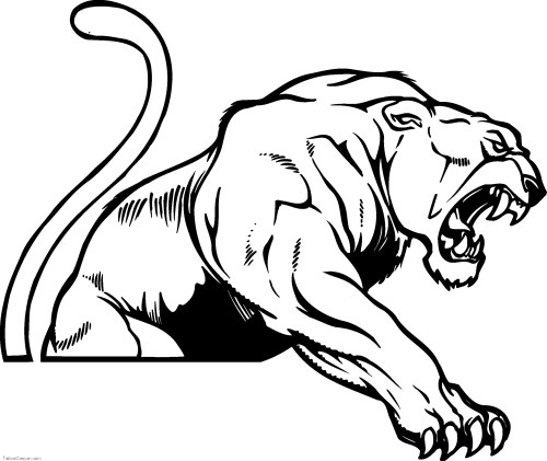 small resolution of panther mascot clip art use to